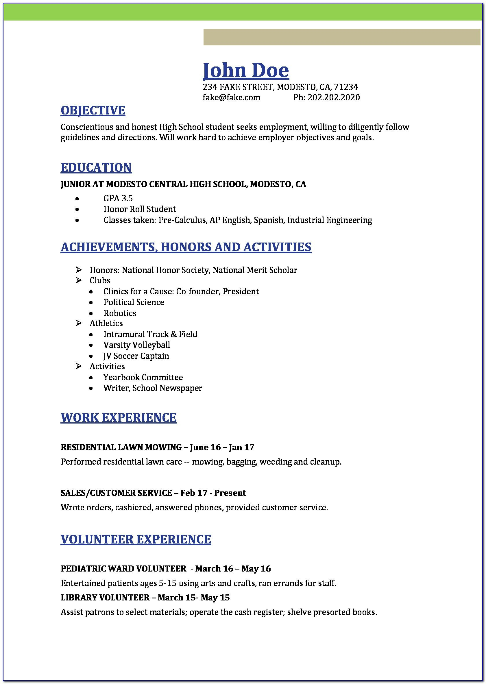 Resume Examples For Sales Manager Position