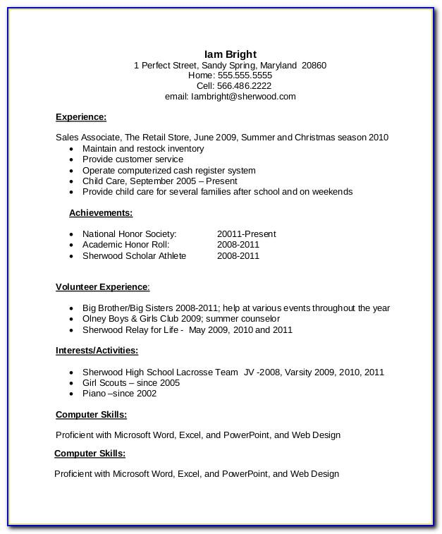 Resume Examples For Sales Positions