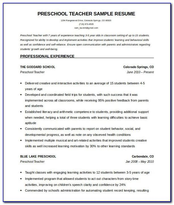 Resume Examples For Sales Representative