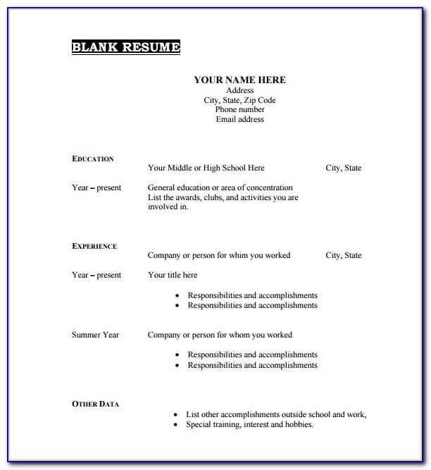 Resume Examples For Teachers Jobs