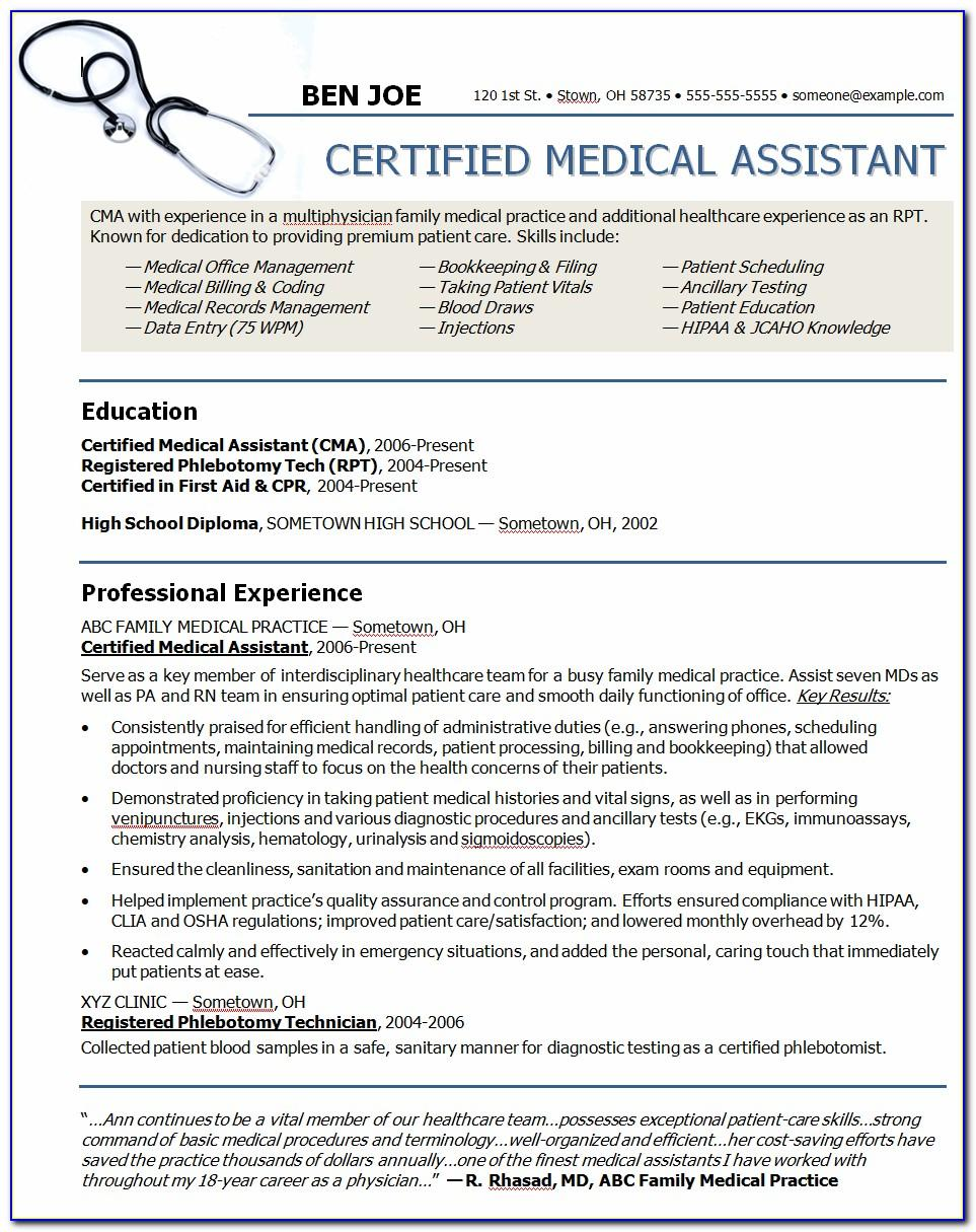 Resume For Nurses Template