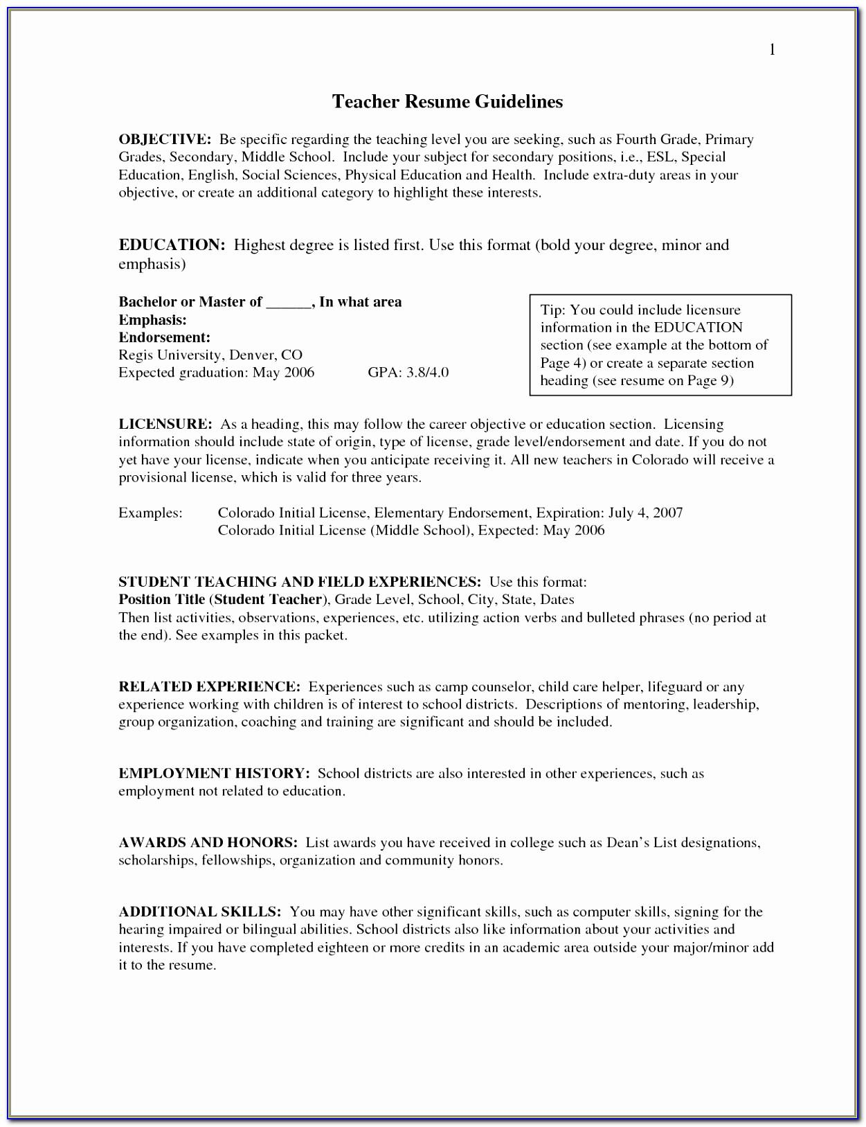 Resume Format Docx Free Download