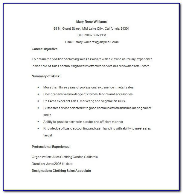 Resume Format For Freshers With No Experience