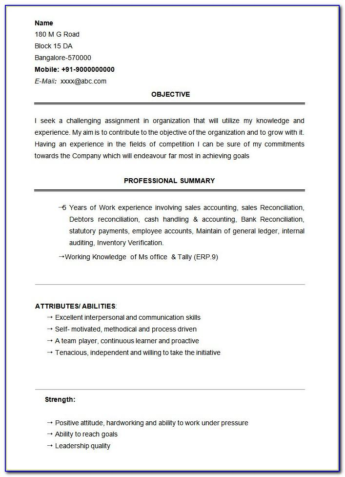 Resume Format For High School Students With No Experience