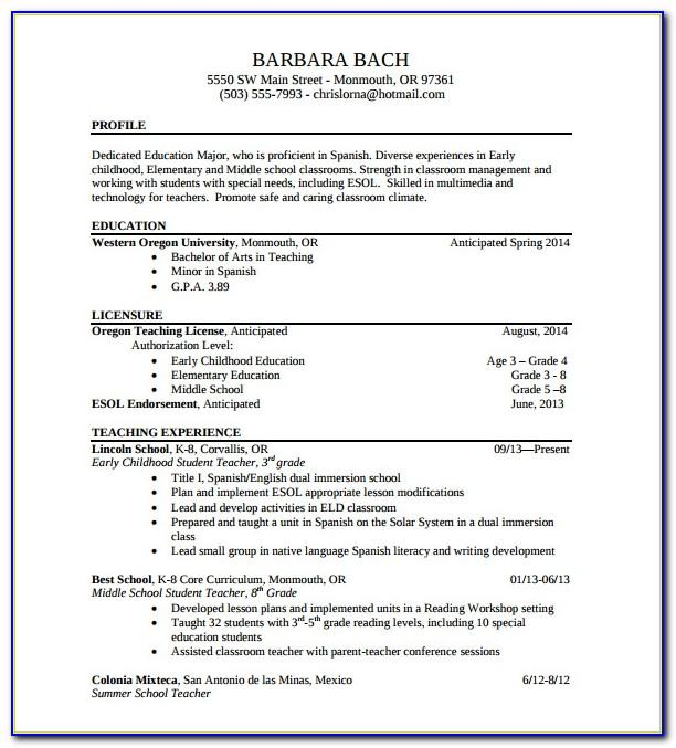 Resume Format For Lecturer Job Pdf