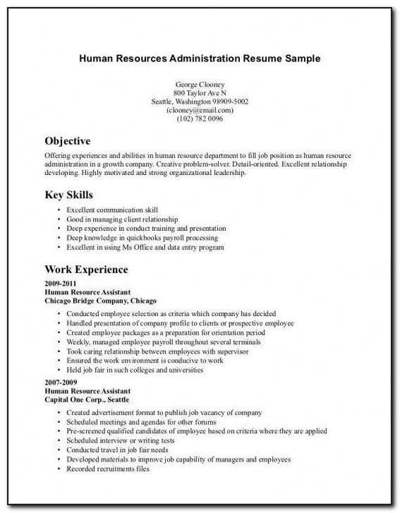 Resume Format For Microsoft Word 2010