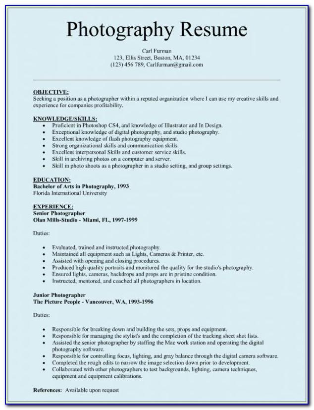 Resume Format For Ms Word 2007