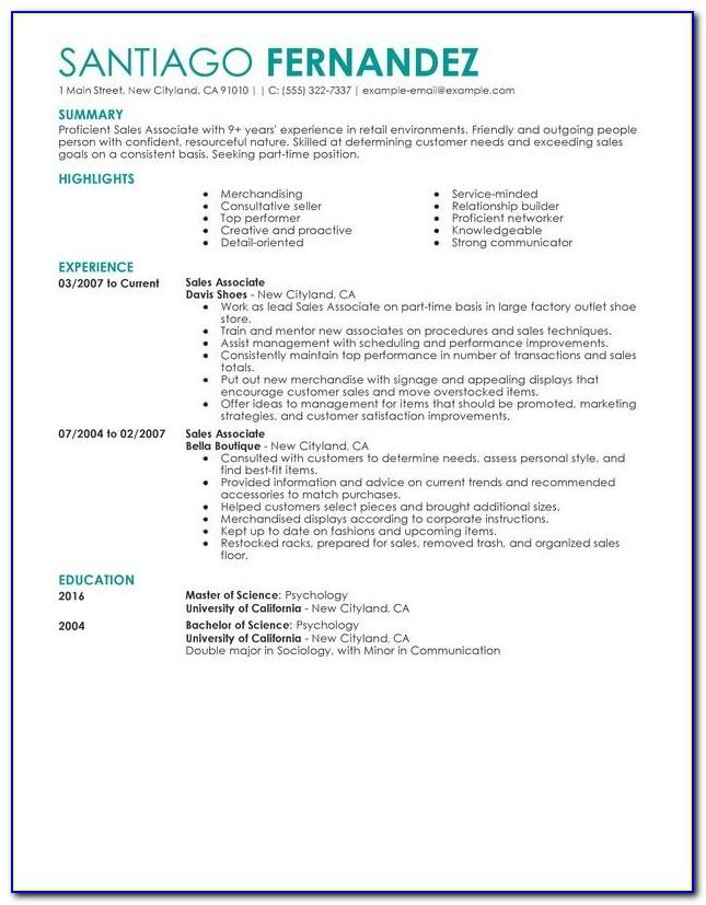 Resume Format For No Experience