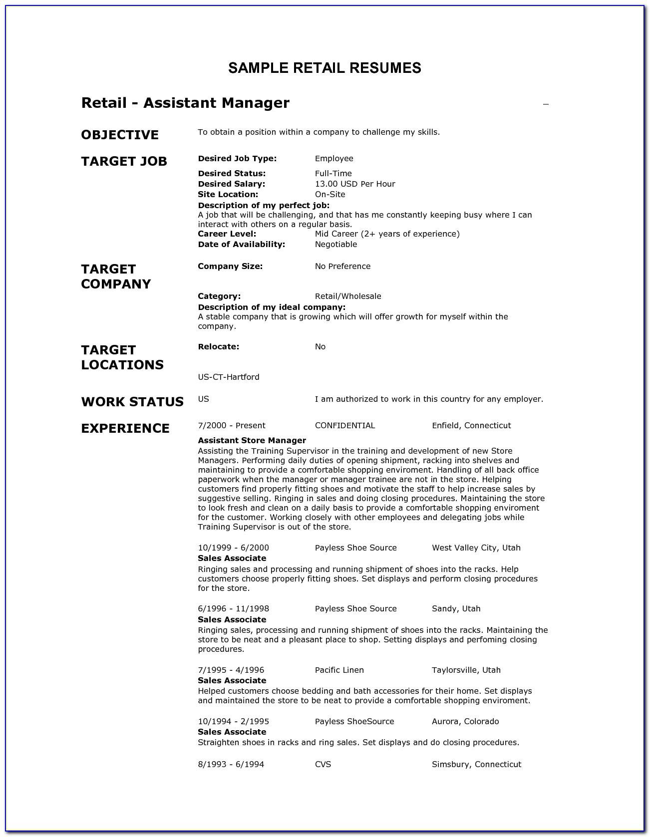 Resume Format For Project Manager In Telecom