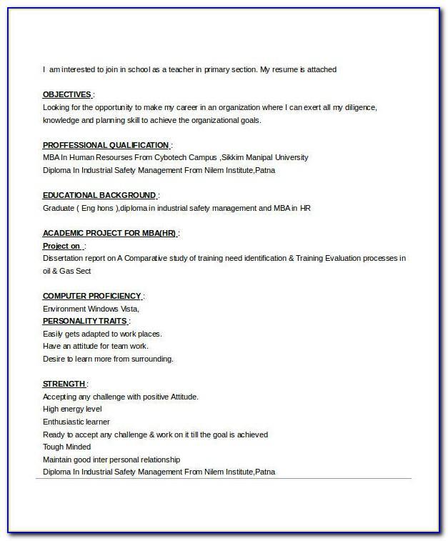 Resume Format For Sales Coordinator Jobs