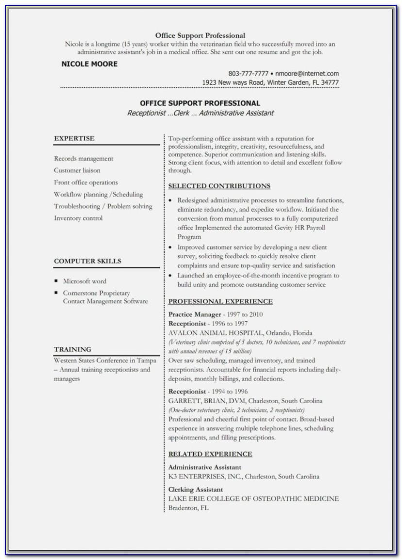 Resume Format In Ms Word File Free Download