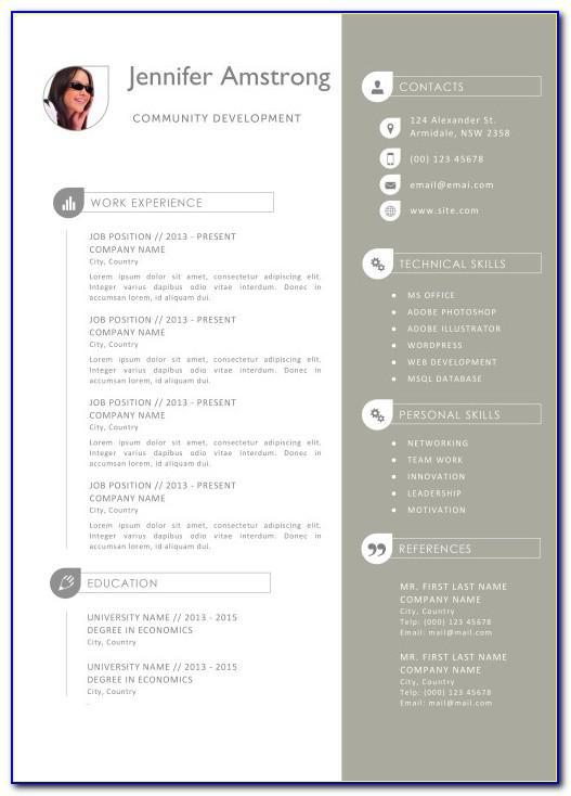 Resume Format Mac Free