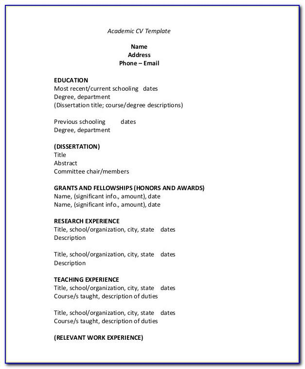Resume Format Mac Word