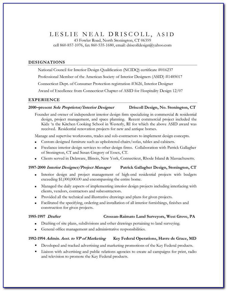 Resume Format Microsoft Word 2010