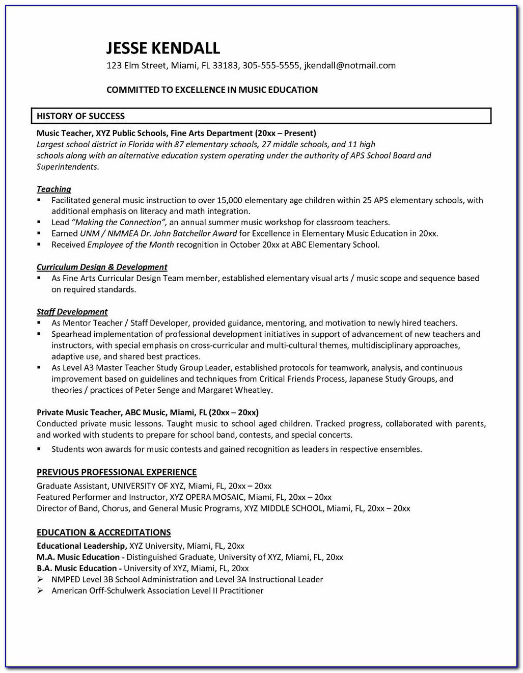 Resume Format Microsoft Word Download