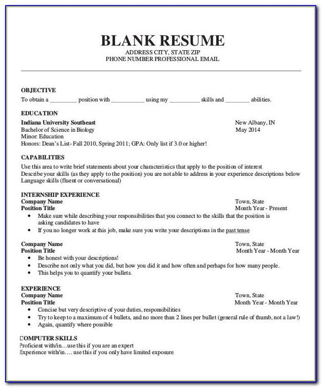 Resume Format Pdf For Civil Engineering Freshers Download