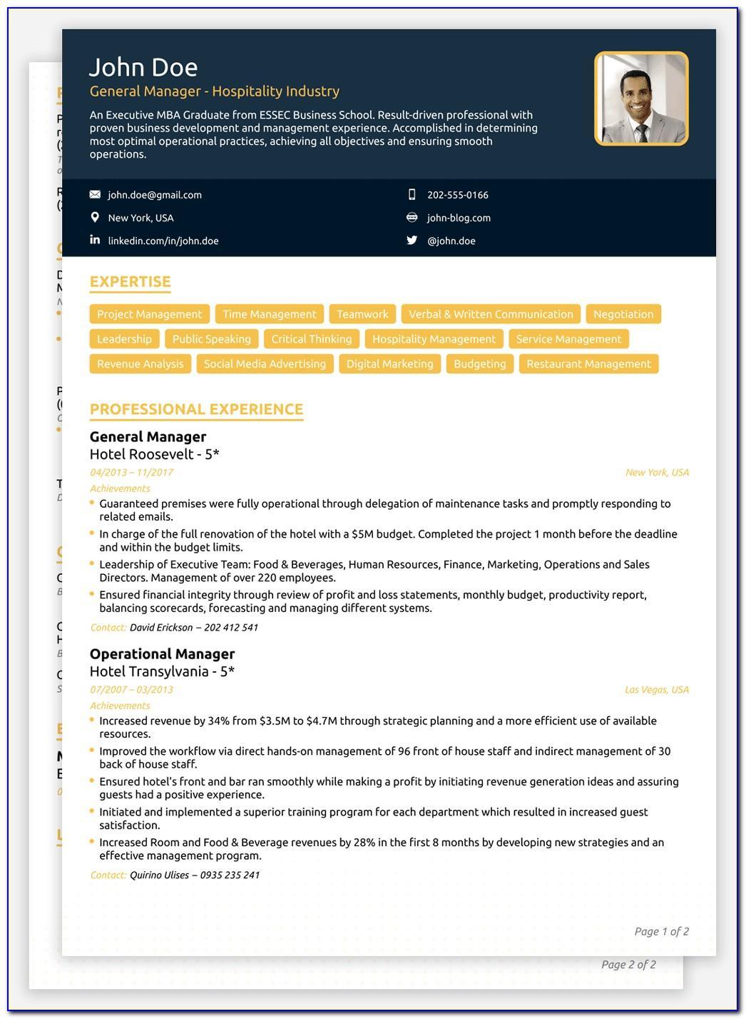 Resume Format Pdf Free