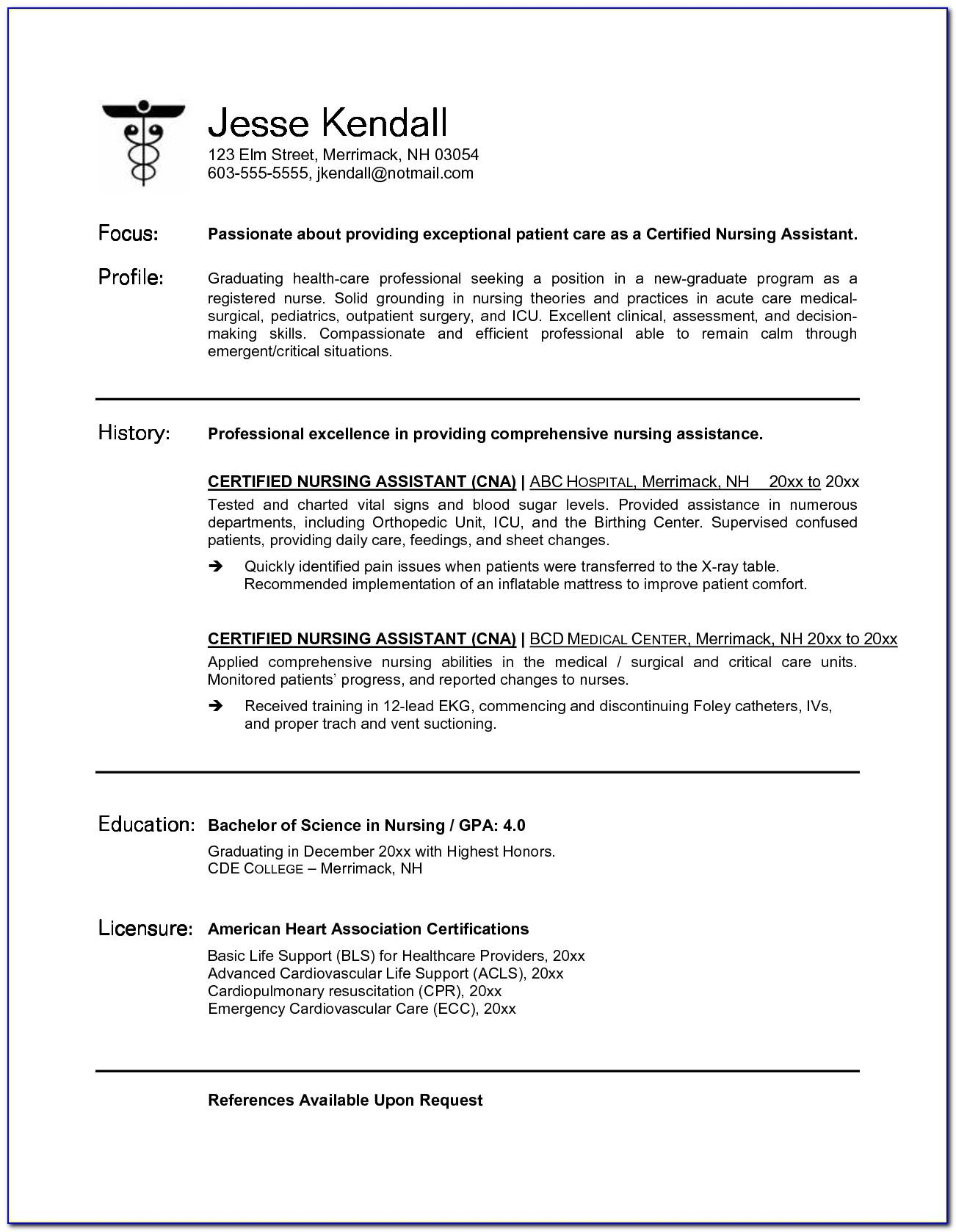 Resume Format Sample Free Download