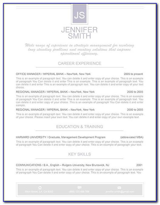 Resume Format Word 2013