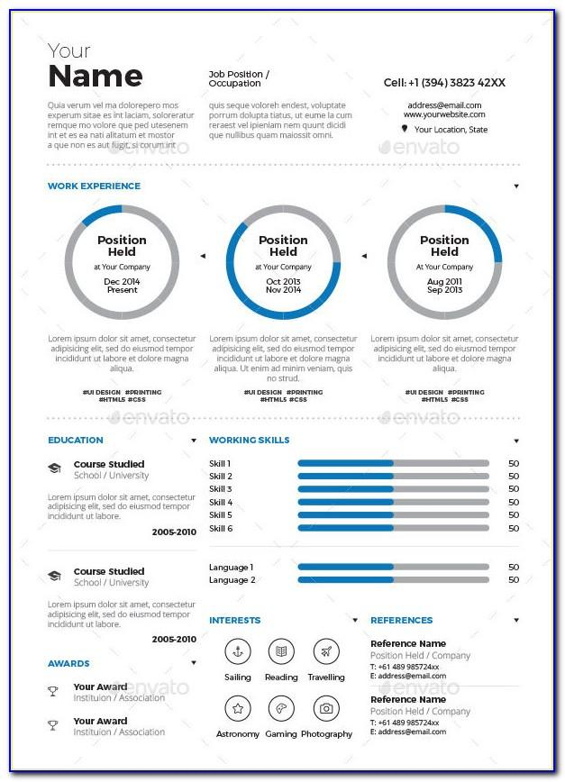 Resume Infographic Template Free Download