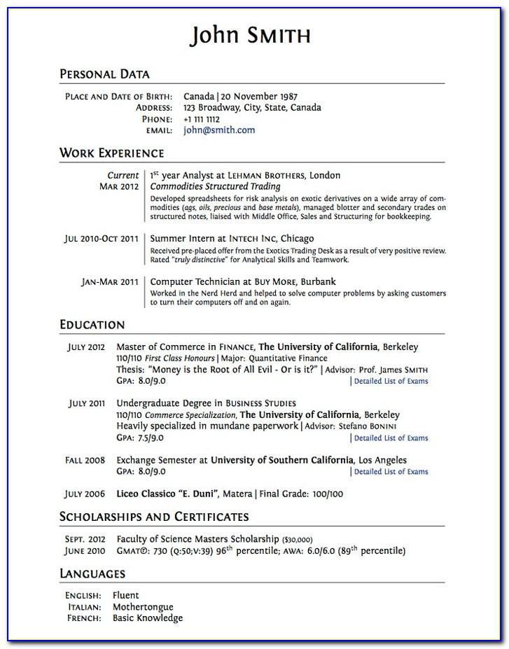 Resume Objective Examples For College Admission