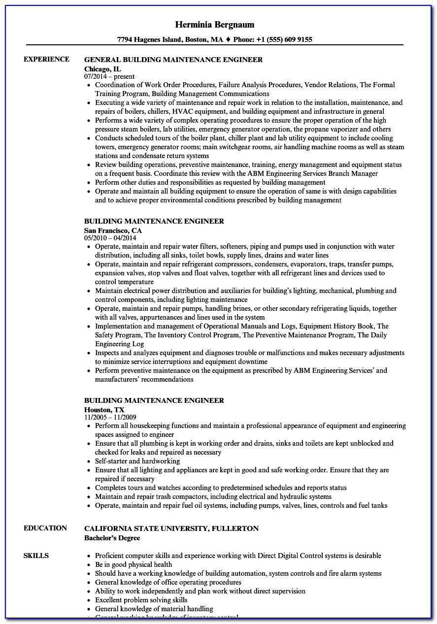 Resume Objective Samples For Electrical Engineer