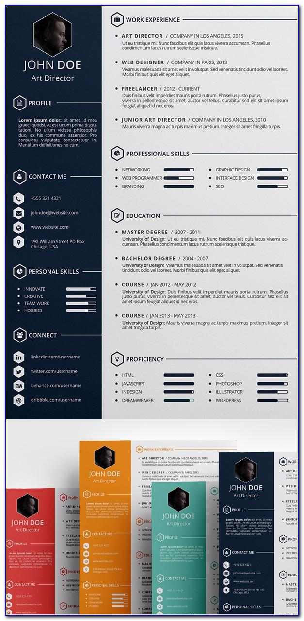 Resume Photoshop Template Free Download