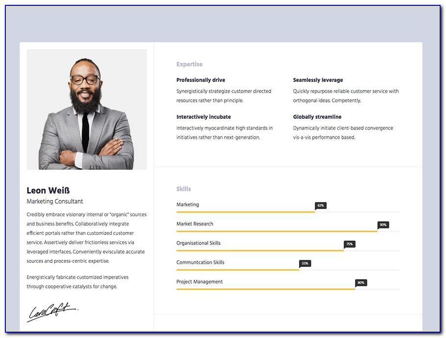 Resume Portfolio Html Template Free