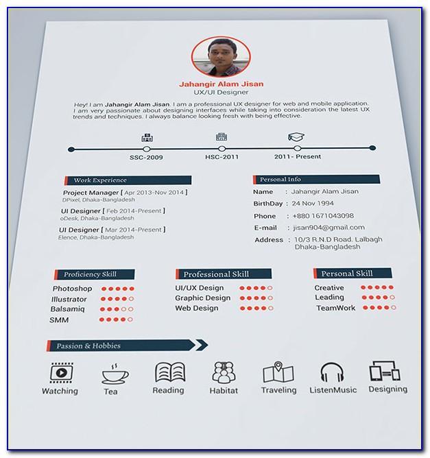Resume Portfolio Template Download