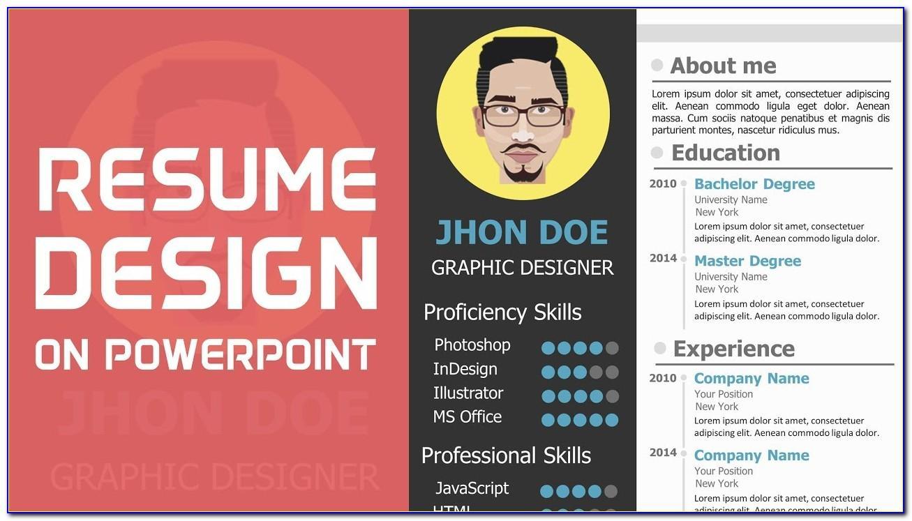 Resume Portfolio Template Psd