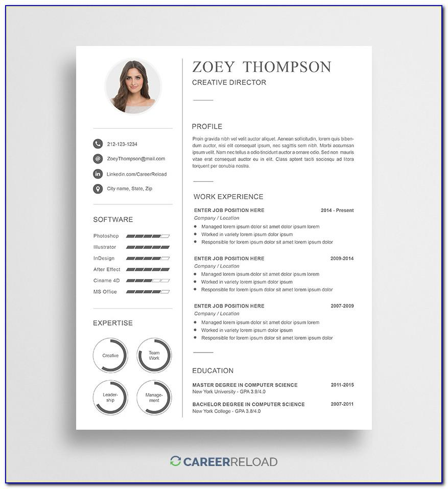 Resume Powerpoint Presentation Templates