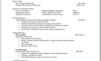 Resume Sample Construction Worker