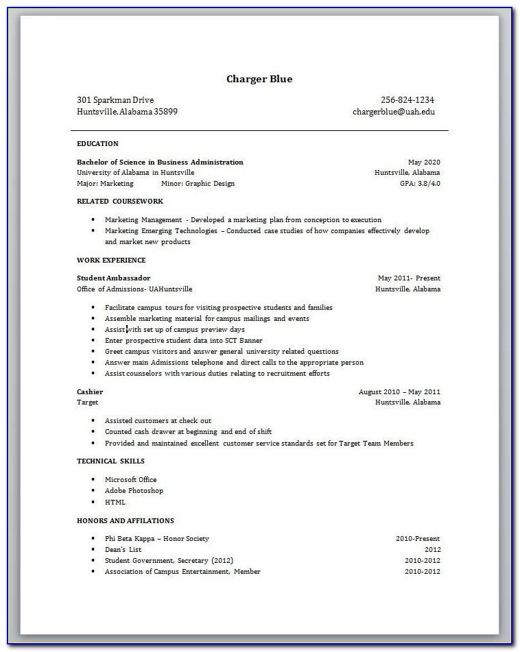 Resume Sample For Construction Worker