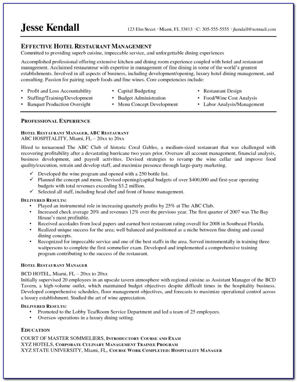 Resume Sample For Newly Registered Nurses