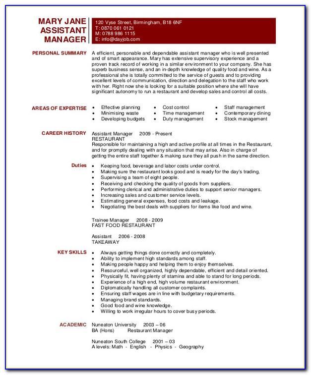 Resume Sample For Nursing Aide