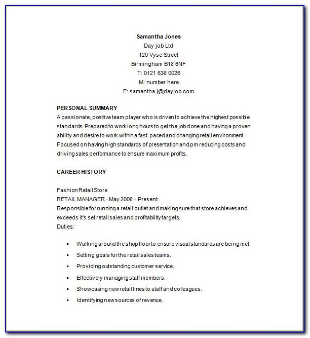 Resume Sample For Senior Project Manager