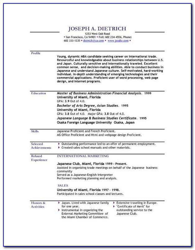 Resume Sample Pdf Download