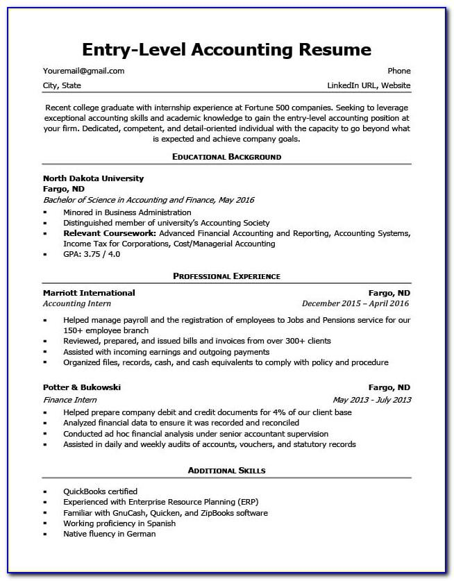 Resume Sample Templates Free