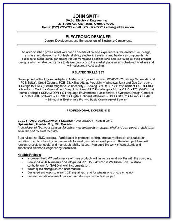 Resume Samples Doc Free Download