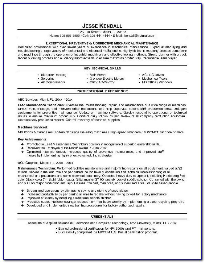 Resume Samples For Electrical Engineers Freshers
