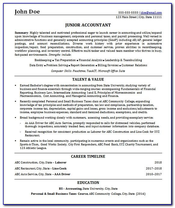 Resume Samples For Freshers Pdf Free Download