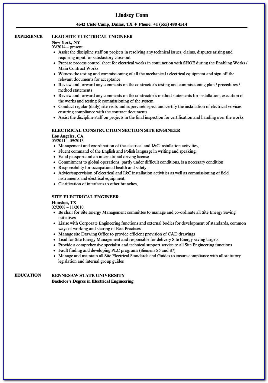 Resume Samples For General Construction Worker