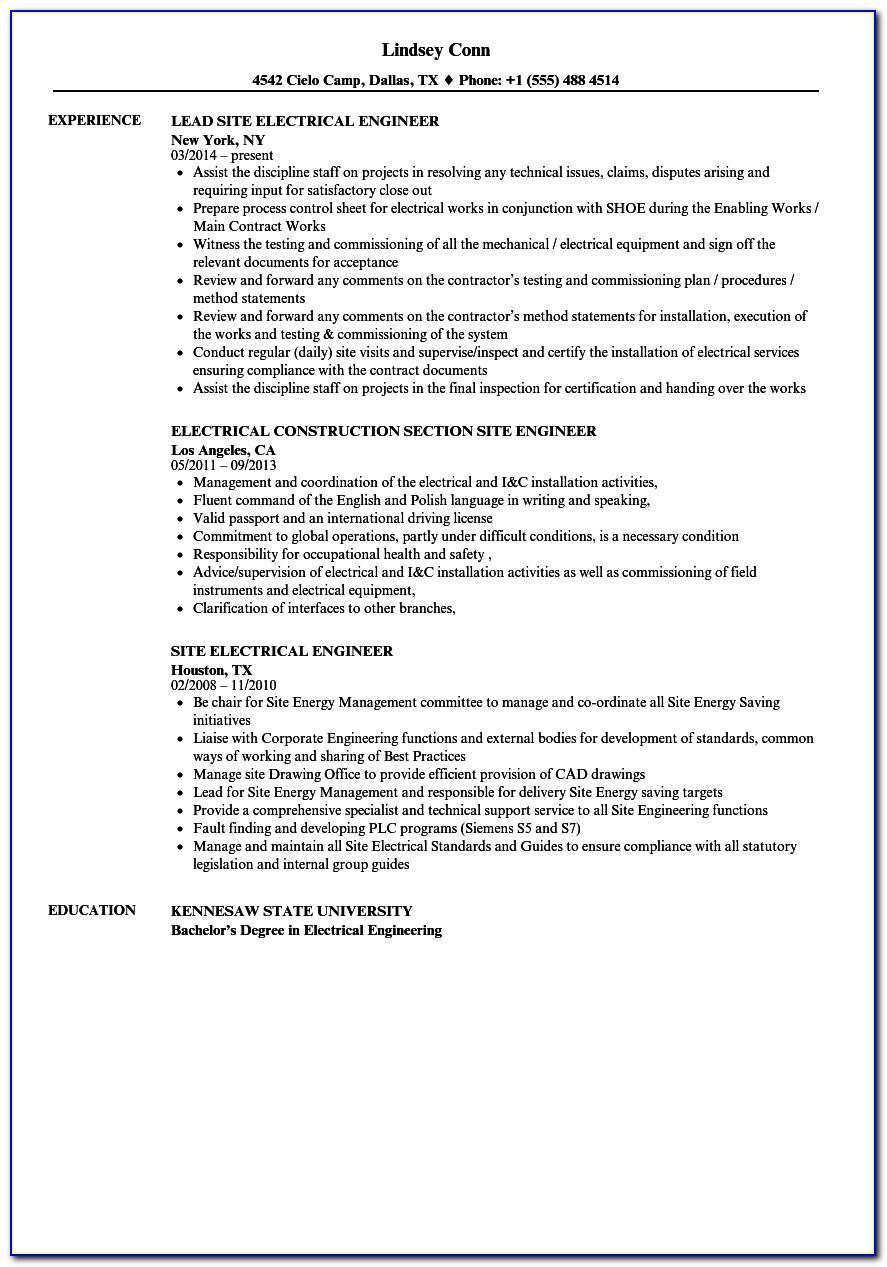 Resume Samples For General Construction Worker