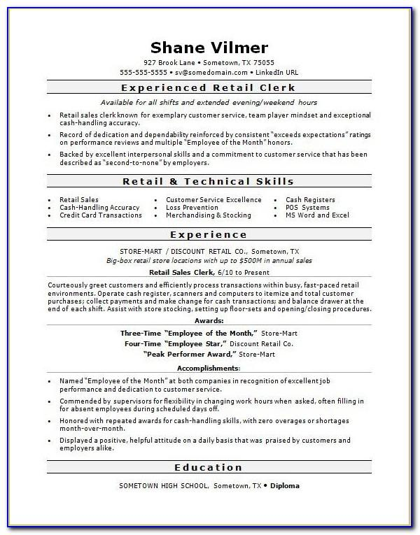 Resume Samples For Project Manager
