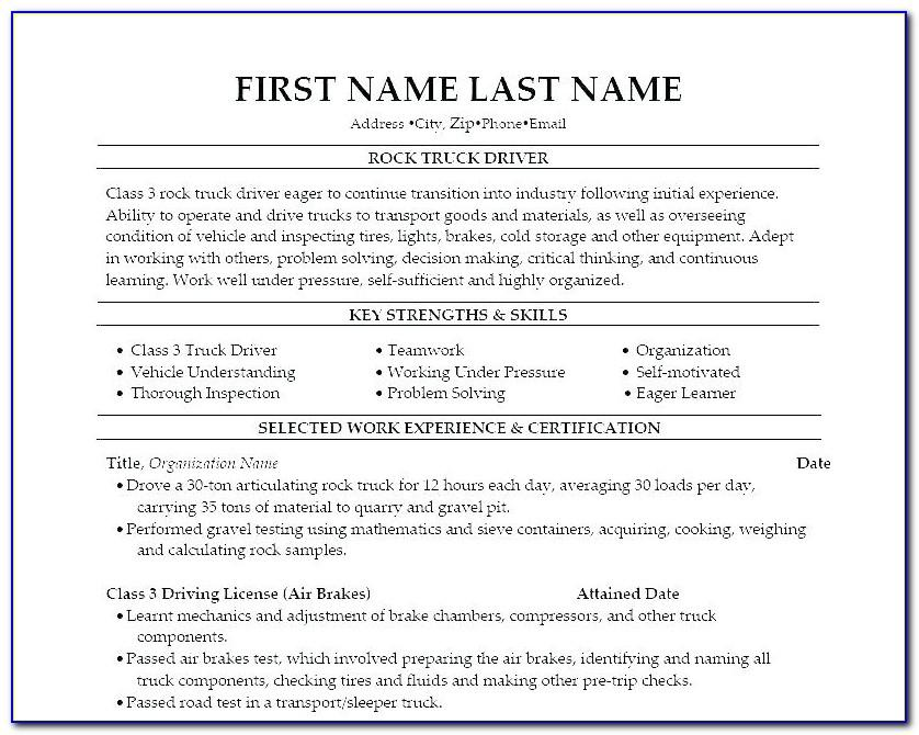 Resume Samples For Students In High School