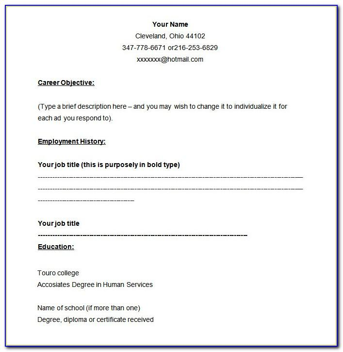 Resume Samples For Teachers Job Pdf