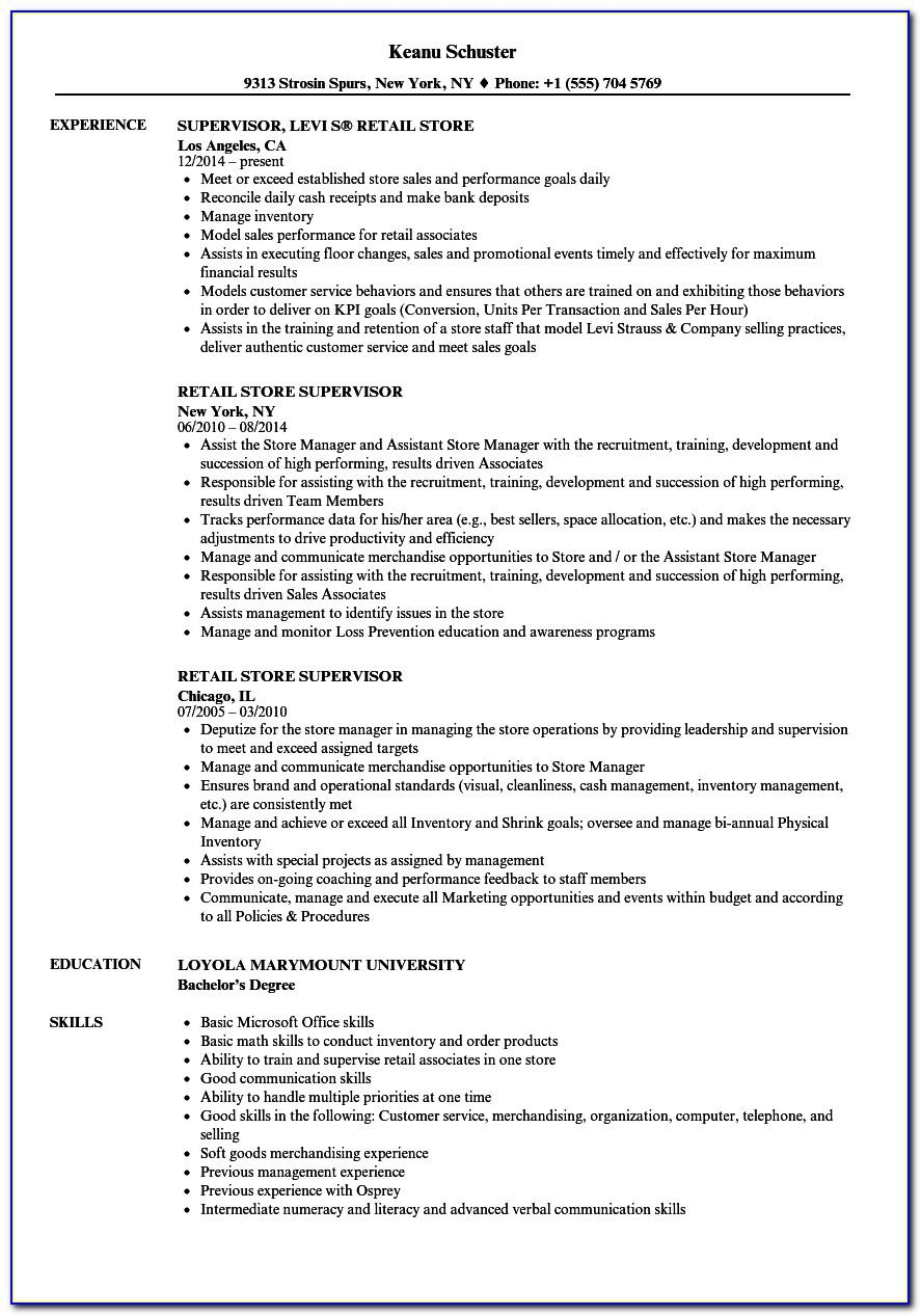 Resume Samples Project Management