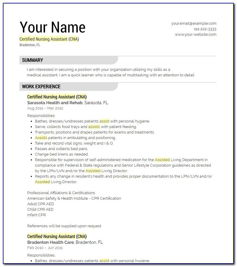Resume Simple Sample Bio Data