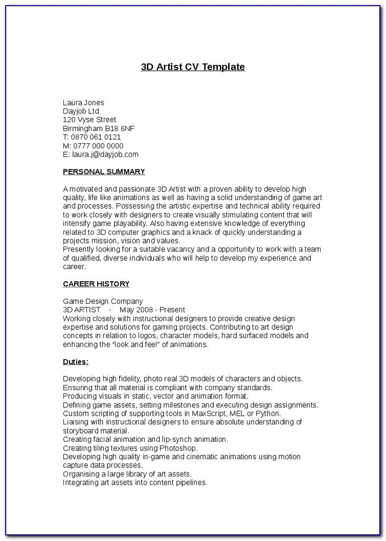 Resume Template Electrician Technician