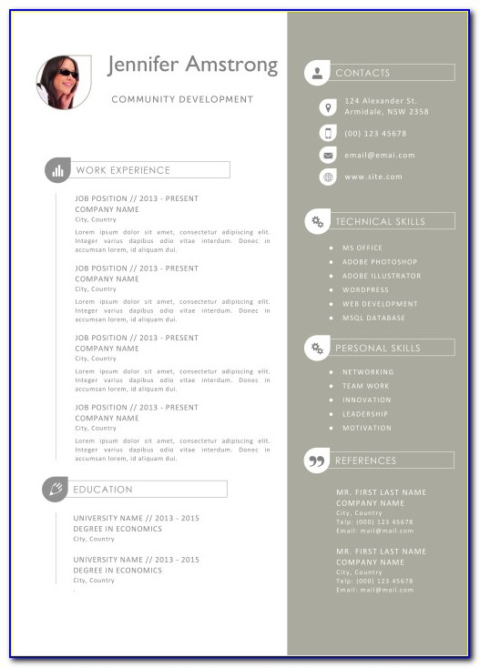 Resume Template For Apple Computer